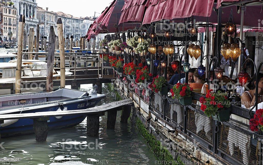 Terrace in Venice royalty-free stock photo