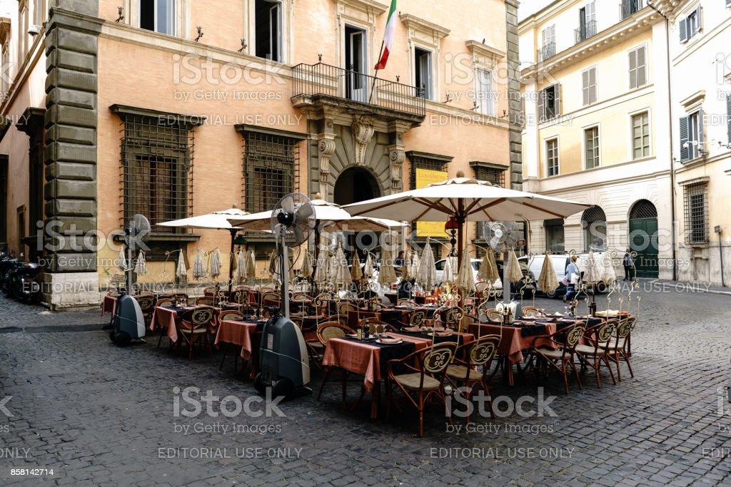 Terraza De Un Bar En La Plaza Llamada Della Academia En El