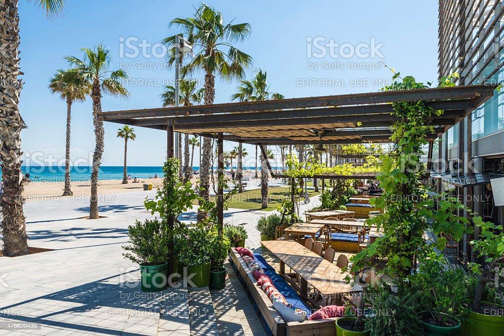 Terraza Del Bar Frente A La Playa Foto De Stock Y Más Banco