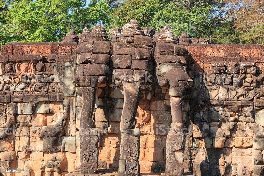 Terraza De Los Elefantes Camboya Foto De Stock Y Más Banco