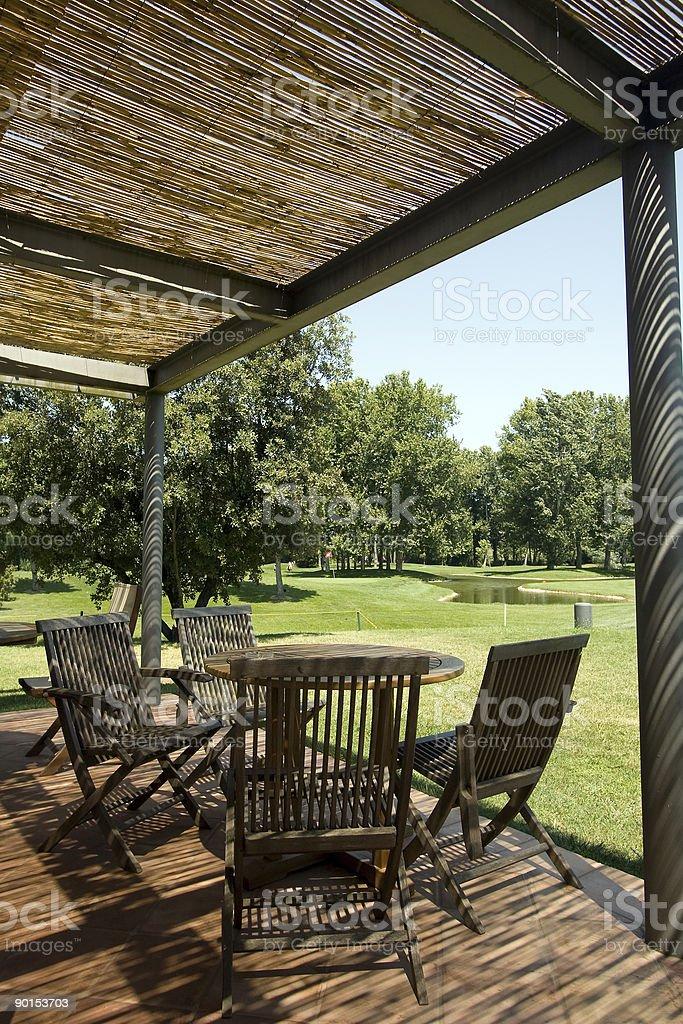 Terraza Del Campo De Golf Foto De Stock Y Más Banco De