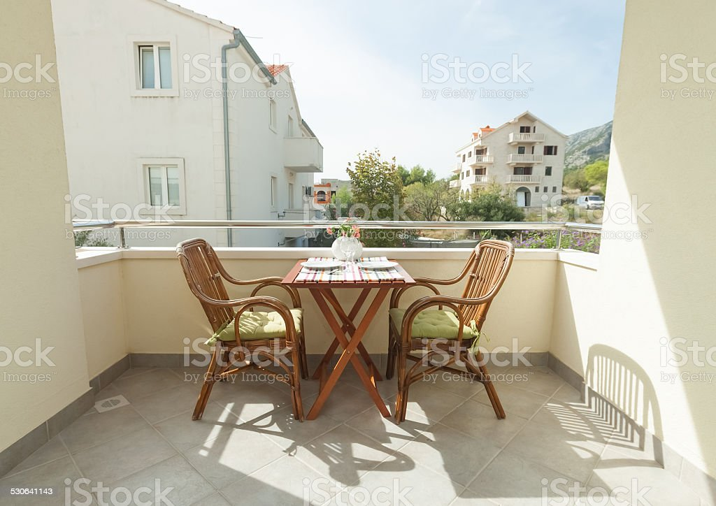 Terrace stock photo