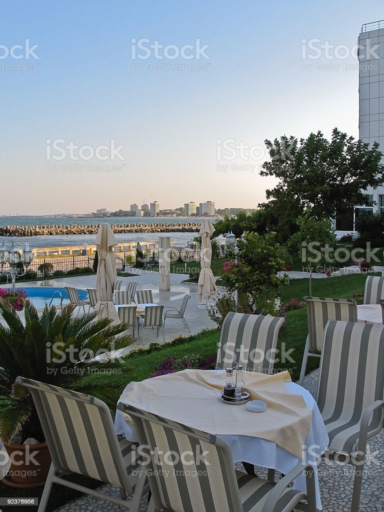 Terrace table royalty-free stock photo