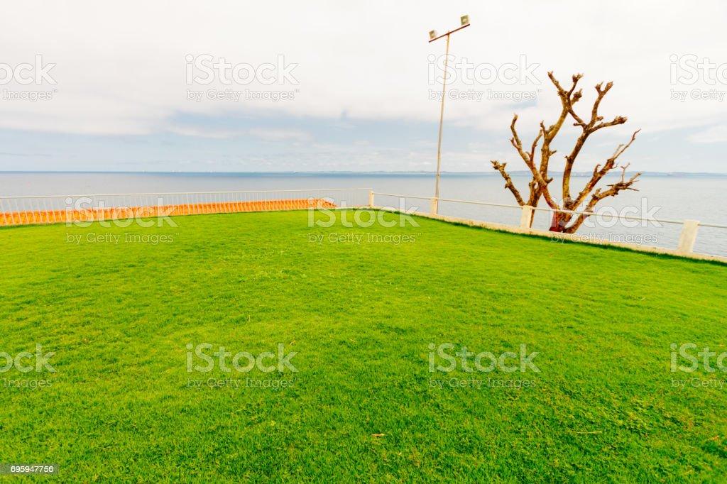 Terraza Con Jardín Frente Al Mar En Salvador De Bahía Brasil