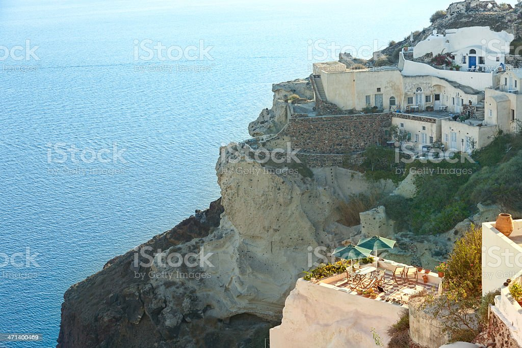 Terrace with sea view stock photo