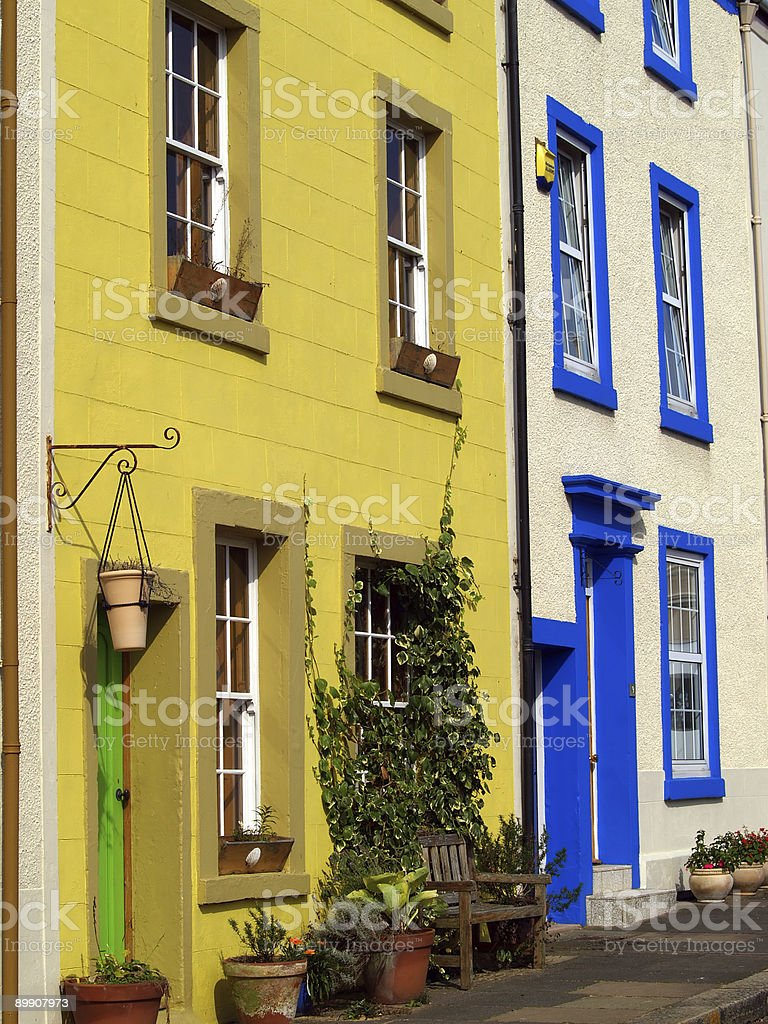 Terraced cottages royalty-free stock photo
