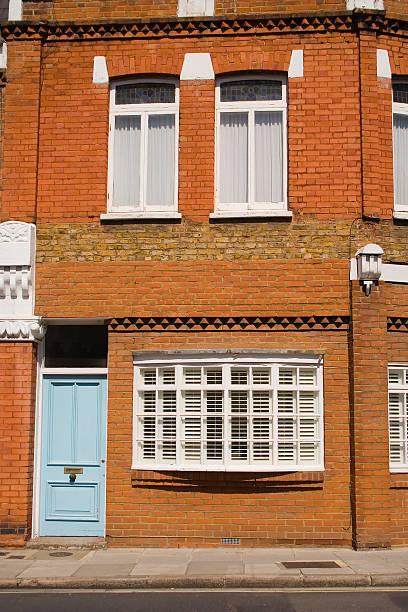 Terraced house stock photo