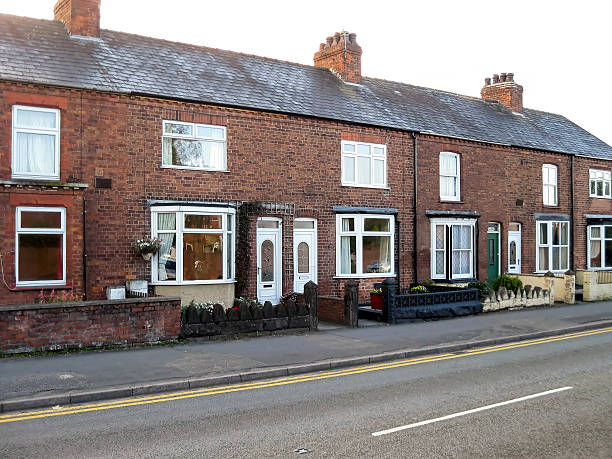 Terraced Houses Cheshire stock photo