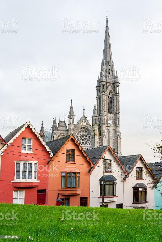 Las casas adosadas.   Cobh, Irlanda foto de stock libre de derechos