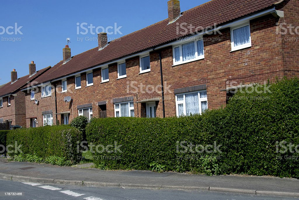 Terraced Houses in a row stock photo