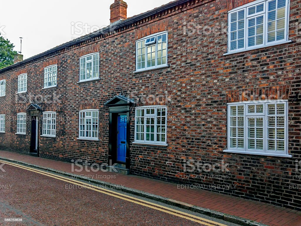 Terraced Houses Nantwich stock photo