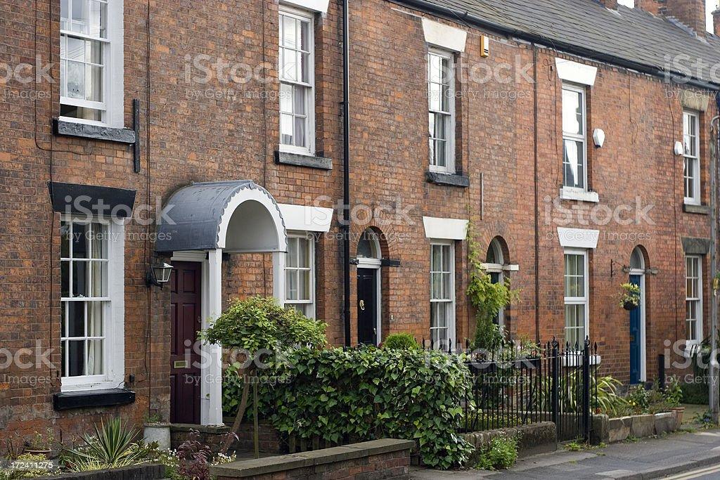 Terraced houses stock photo