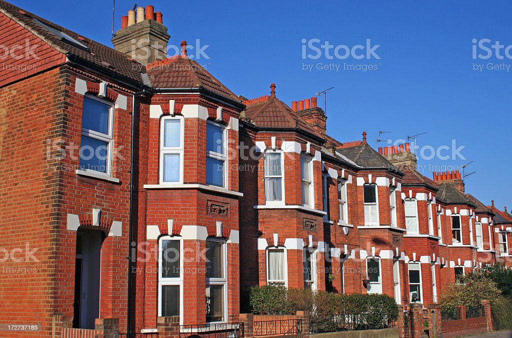 Terraced houses royalty-free stock photo