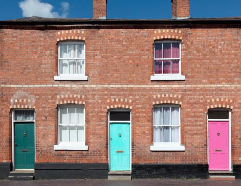 Row of terrace houses.