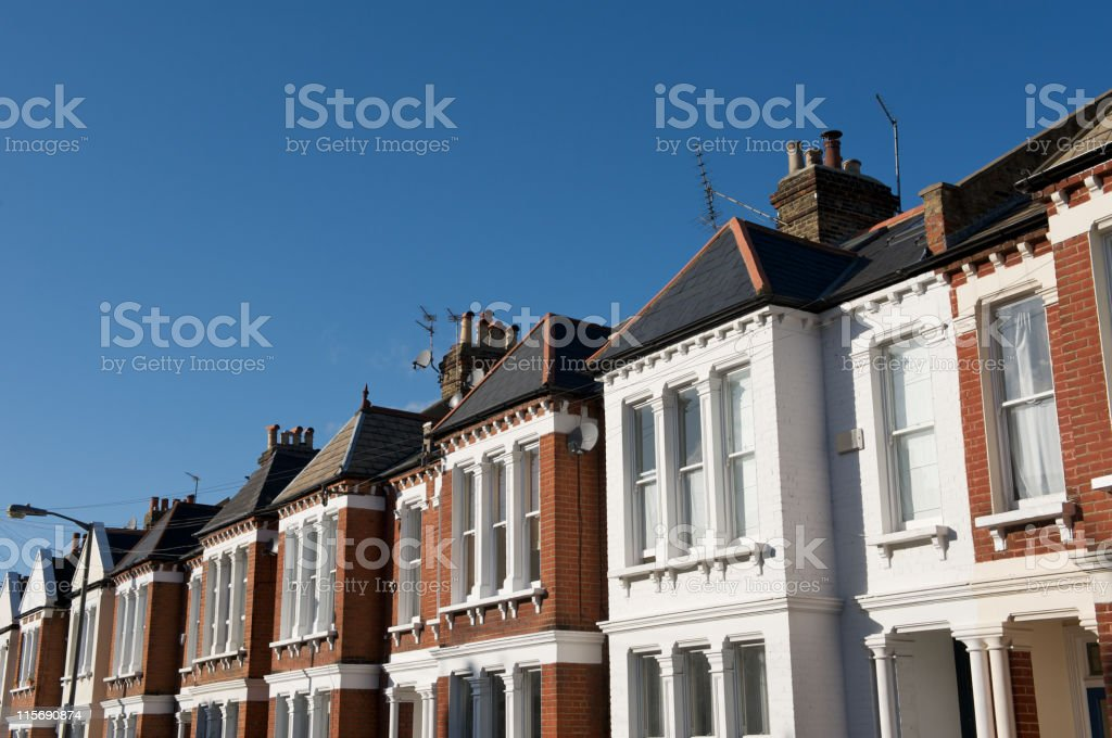 Terraced housing in south London royalty-free stock photo