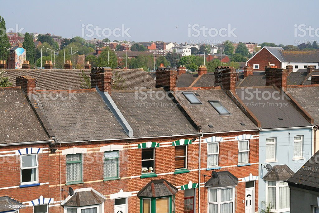 Terraced Housing royalty-free stock photo