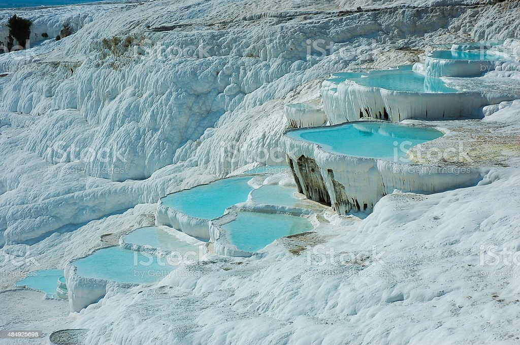 Terraces, Pamukkale, Turkey stock photo