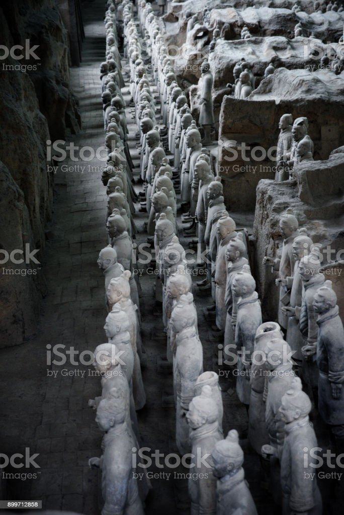 Terracota warriors stock photo