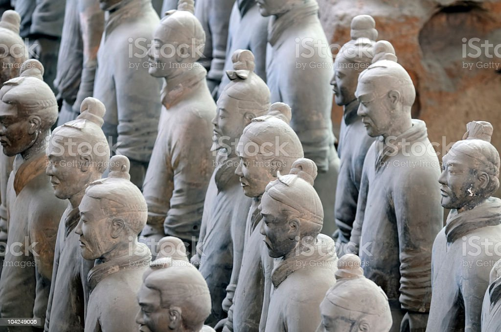 Terracota army. China royalty-free stock photo