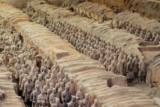 Terrakotta-Armee in Xian, China – Foto