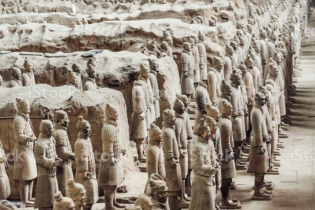 Terracotta Army in Xian, China stock photo