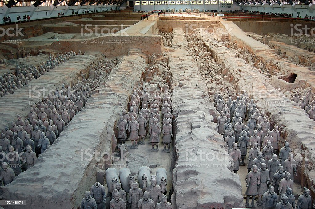 Terra-cotta army in Xi'an royalty-free stock photo