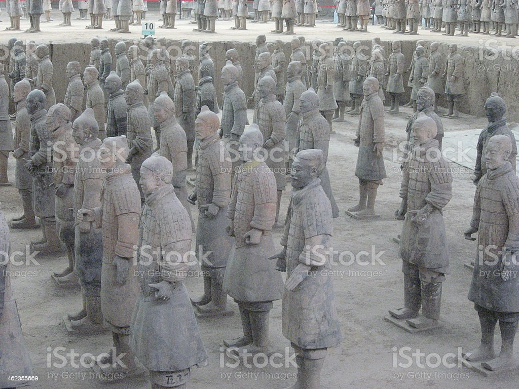 Terracotta Army of Qin Shi Huang, First Emperor  China Terracotta Army of Qin Shi Huang, First Emperor of China. Asia Stock Photo