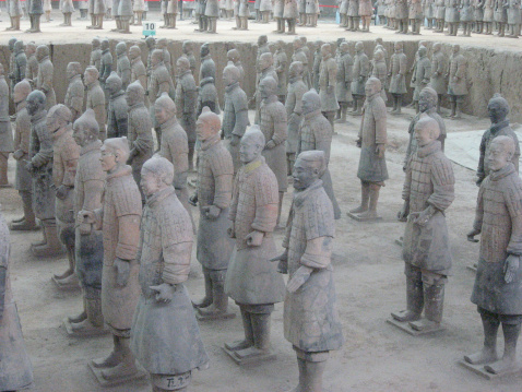 Terracotta Army Of Qin Shi Huang First Emperor China Stock Photo - Download Image Now