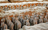 The Terracotta Army was buried with the Emperor of Qin. Now ii is the highlights travel destination in China.