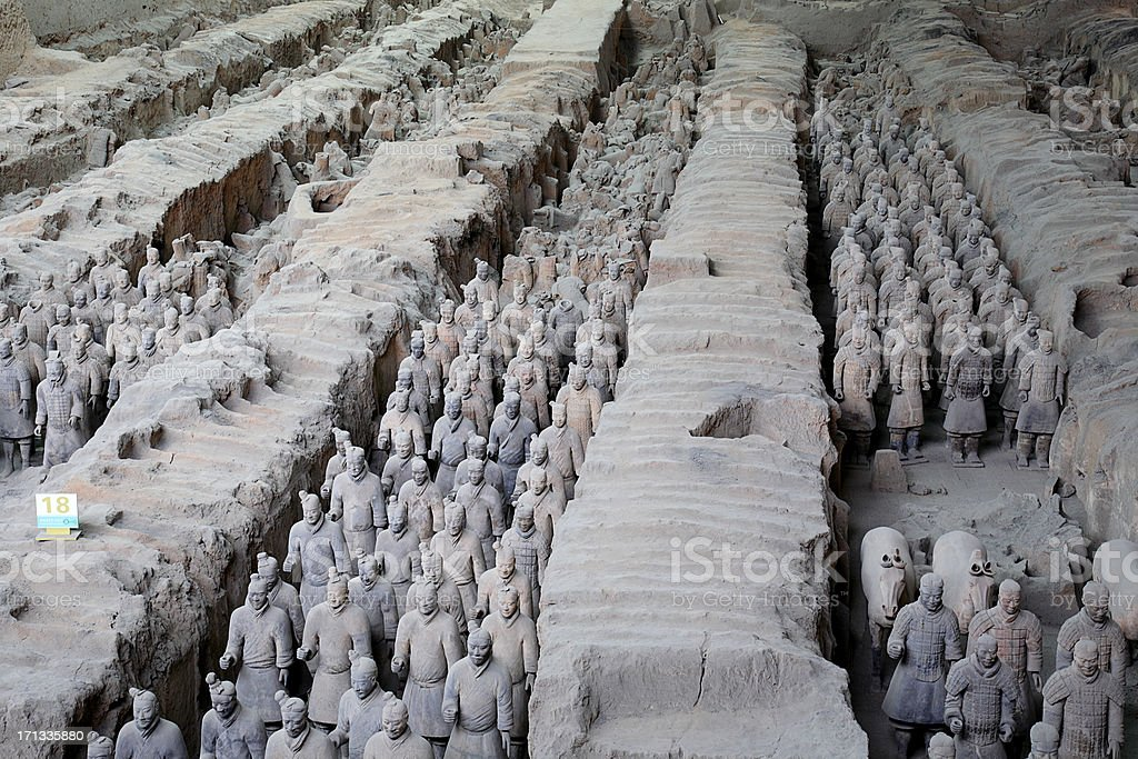 Terracotta Army rank and file royalty-free stock photo