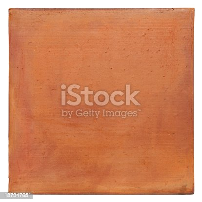 Terracotta background. Composite image, isolated on white,clipping path included.