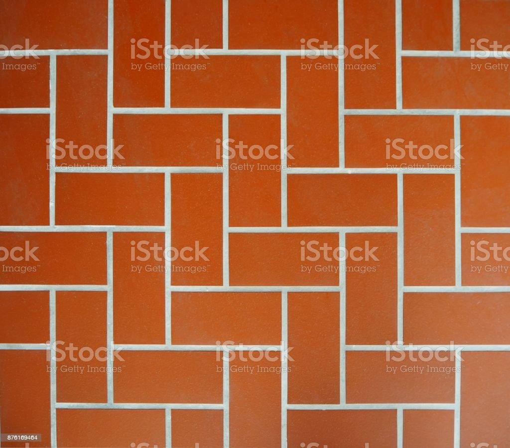 Braun Terrakotta Fliesen Boden Muster Stock Fotografie Und Mehr