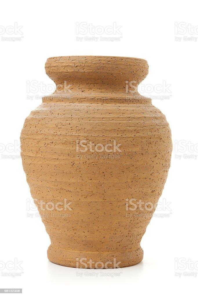 Pentola di argilla in Terracotta isolati su bianco foto stock royalty-free