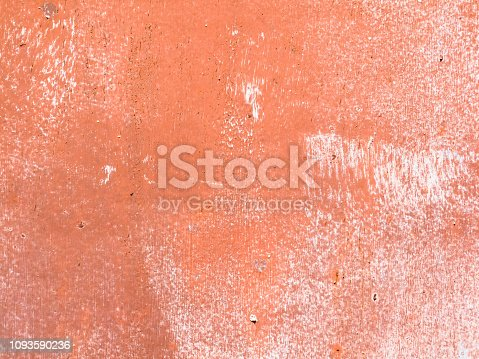 Terracotta painted wall to use as background.