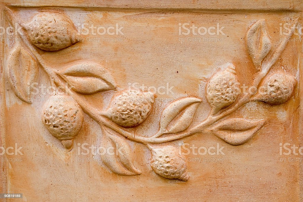 terracotta pattern royalty-free stock photo