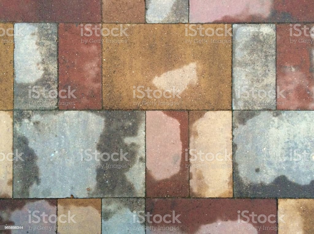 Terracotta bestrating multicolor leeftijd hoge prestaties en anti-slip. - Royalty-free Architectuur Stockfoto
