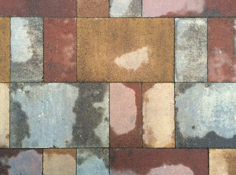 Terracotta Pavement Multicolor Aged High Performance And Nonslip Stock Photo - Download Image Now