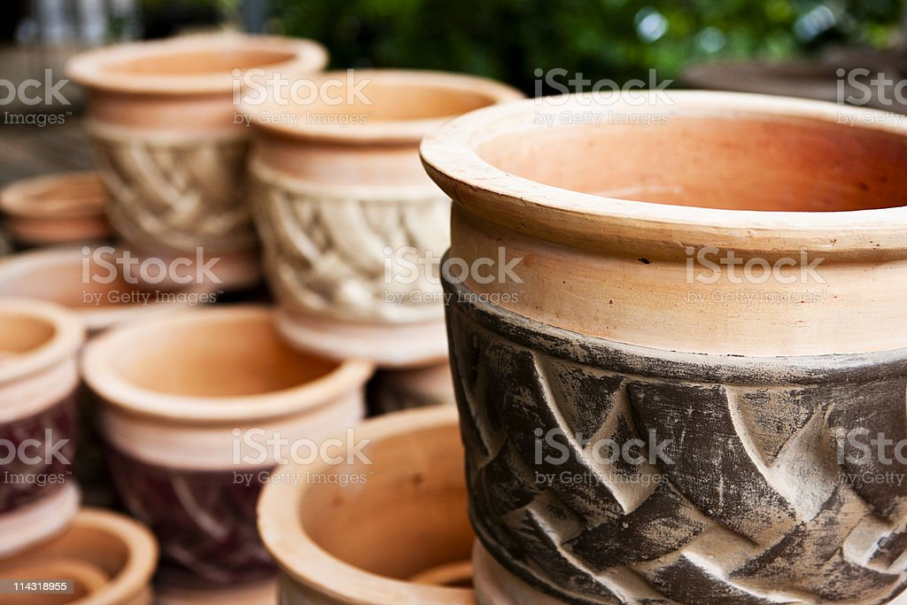 Terracotta pots royalty-free stock photo