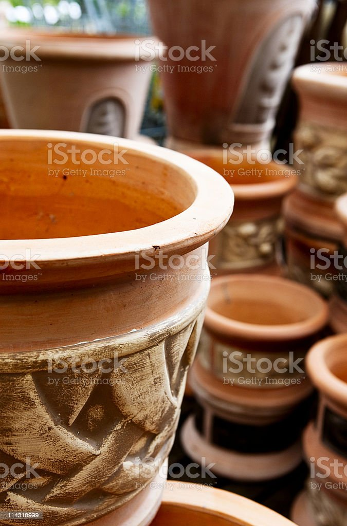 Terracotta pots royalty-free stock photo