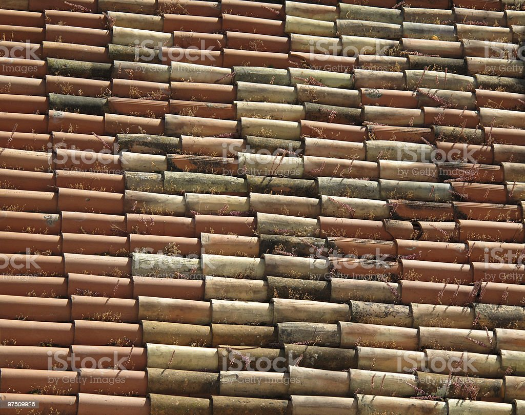terracotta roof royalty-free stock photo