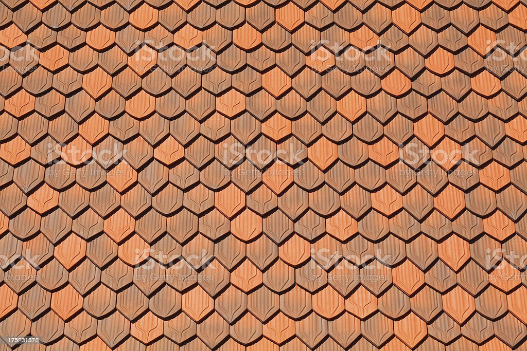 Terracotta roof tiles royalty-free stock photo