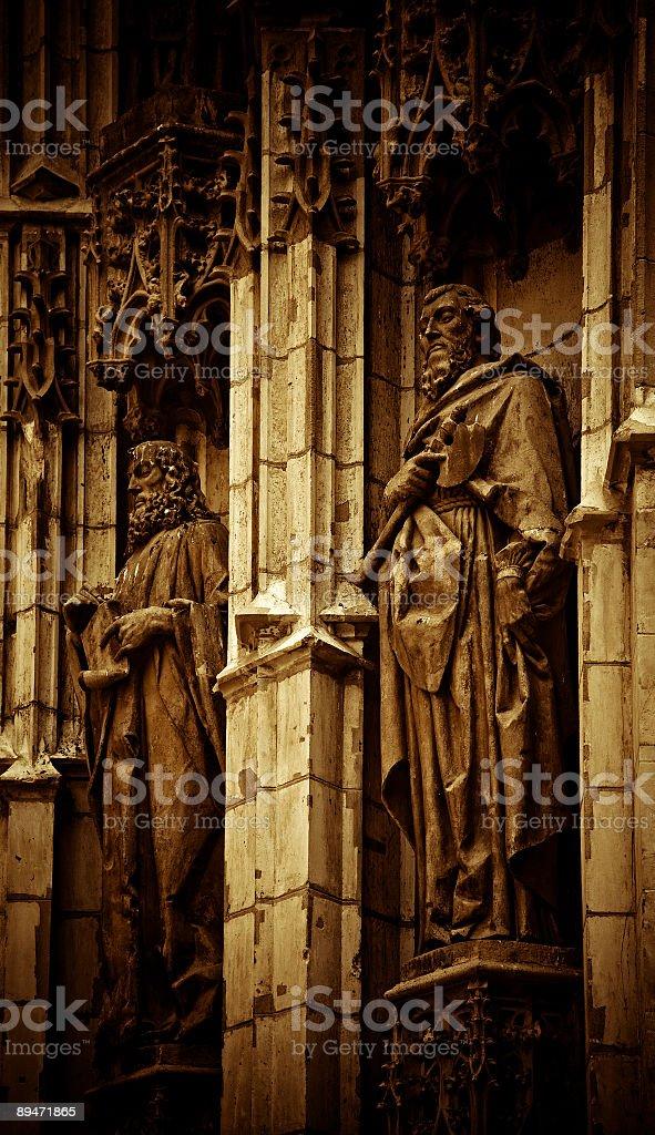 Terracotta Sculptures Sevilla royalty-free stock photo