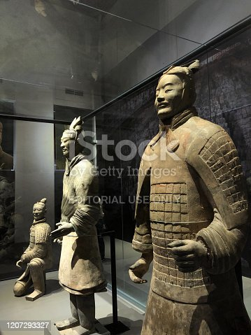 istock Terracotta Soldier and warrior figures from Qin Shi Huang tomb mausoleum exhibited at National museum,Bangkok, Thailand 1207293327