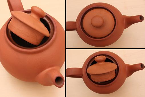 Terracotta teapot  Tea time