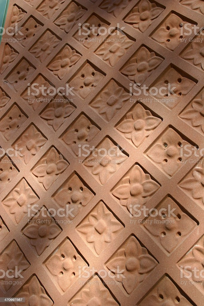 Terracotta Texture royalty-free stock photo