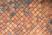 Terracotta tiles wall for abstract Texture background