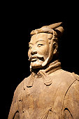 Clay statues of Chinese Qin dynasty soldiers