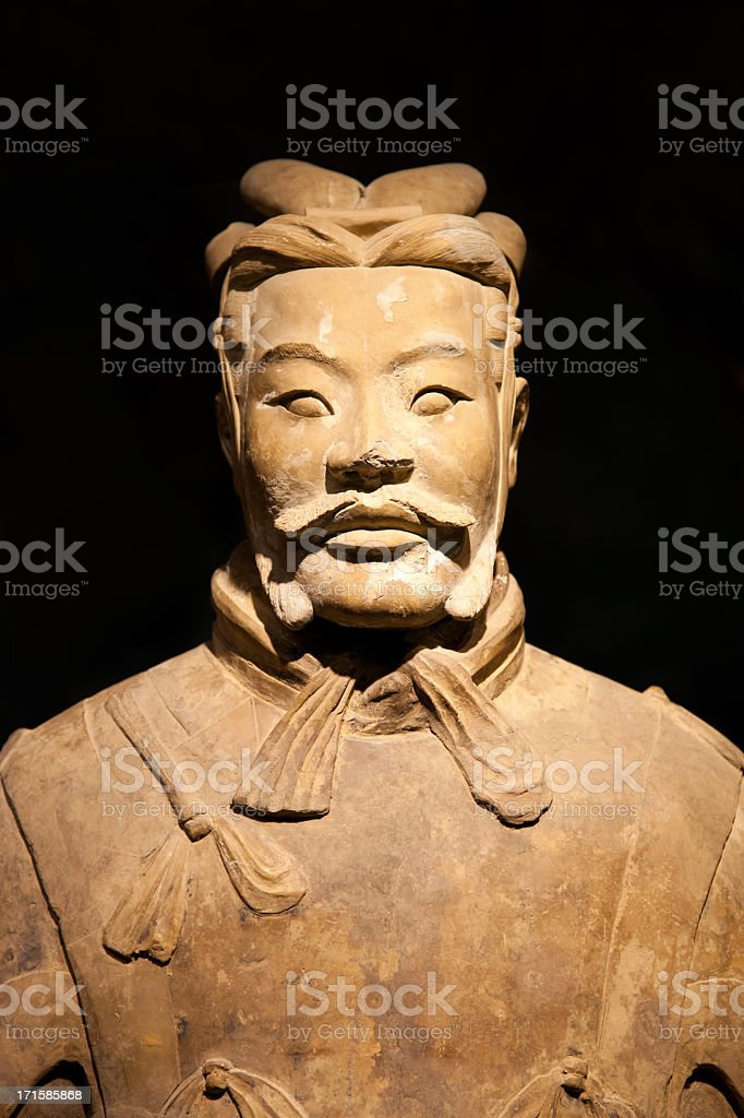 Terracotta Warrior in Xi'an, China royalty-free stock photo