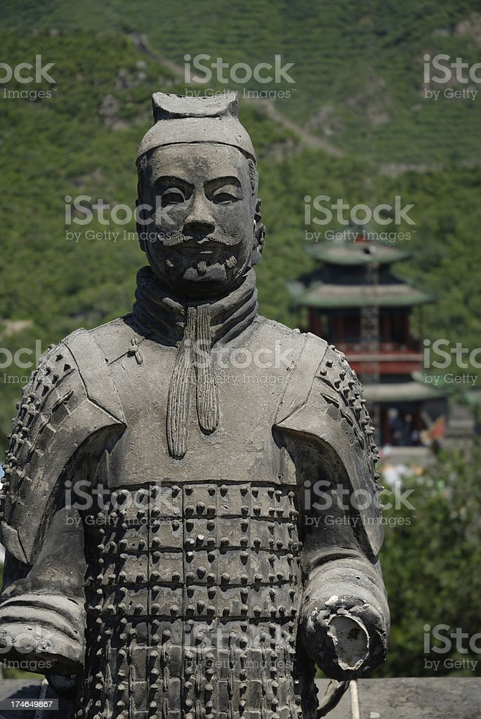 Terracota Warrior royalty-free stock photo
