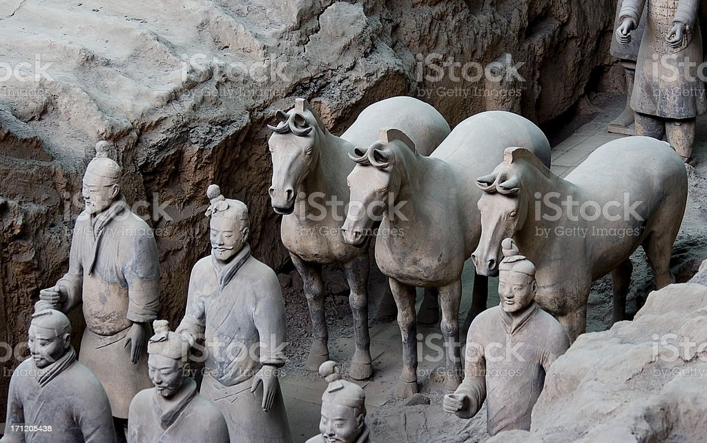 Terracotta Warriors 3 royalty-free stock photo